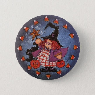 Witchy Poo Knopf-Button Runder Button 5,1 Cm
