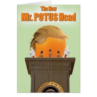 Witz-Papierkarte Herr-Potus Head Trump Birthday Karte