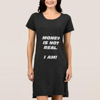 Wmns Geld ist nicht wirkliches T - Shirt-Kleid Kleid