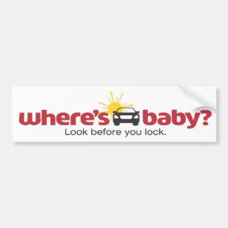 Wo Baby-Blick ist, bevor Sie Sicherheits-Aufkleber Autoaufkleber