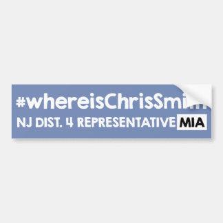 Wo Chris-Smith ist Autoaufkleber
