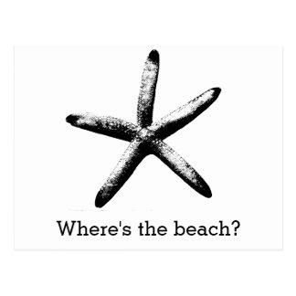 Wo ist der Strand? Postkarte