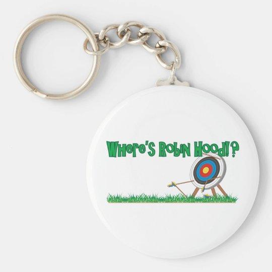 Wo Robin Hood ist Standard Runder Schlüsselanhänger