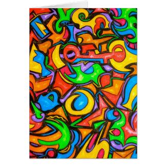 Wo Sie die Süßigkeit-Abstrakte Kunst Notecard Karte