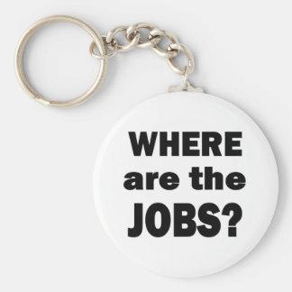 Wo sind die JOBS? Standard Runder Schlüsselanhänger