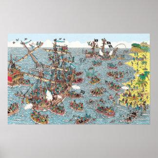 Wo Waldo | ist, das ein Pirat ist Poster