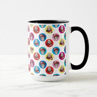 Wo Waldo Spaß-Kreis-Muster ist Tasse