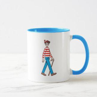 Wo Waldo Spazierstock ist Tasse
