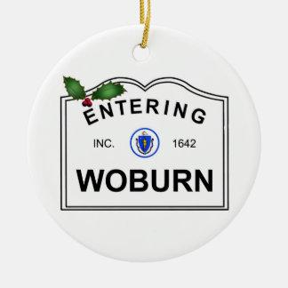 Woburn MA Keramik Ornament