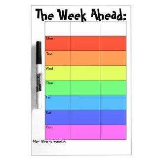 Wöchentlicher Planer-Regenbogen Memo Boards