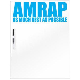 WOD Spaß AMRAP so viel Erholung, wie möglich Trockenlöschtafel