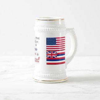 Wohnen in Hawaii! 22 Unze Stein Bierglas