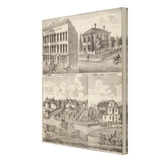 Wohnsitz und Mühle von Samuel Cade, Wabash TP Galerie Falt Leinwand
