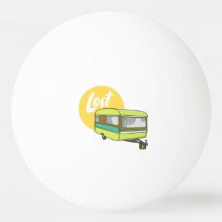 Wohnwagen-verlorene Retro Siebziger-Art Ping-Pong Ball