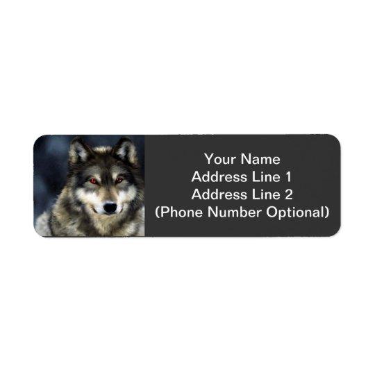 Wolf-Adressen-Aufkleber Kleiner Adressaufkleber