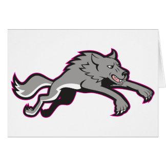 Wolf-angreifende Mitteilungskarten Karte
