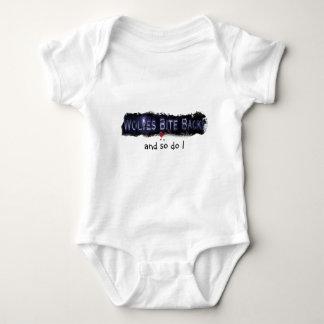 Wolf-Biss-Rückseiten-Baby Halloween Onsie Baby Strampler