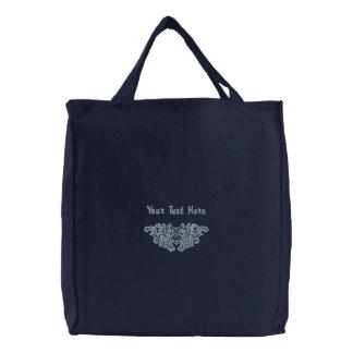 Wolf-Damast Bestickte Taschen