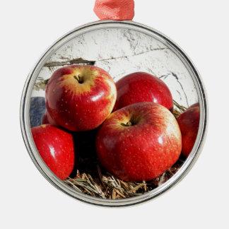 Wolf-Fluss-Äpfel Silbernes Ornament