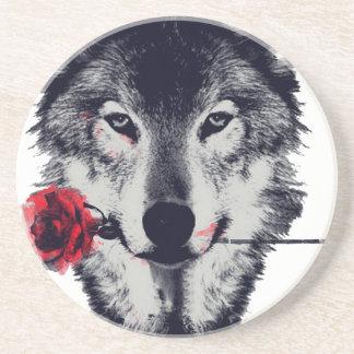 Wolf Getränkeuntersetzer