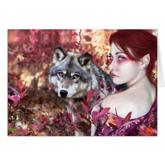 Wolf-Herbst Grußkarte