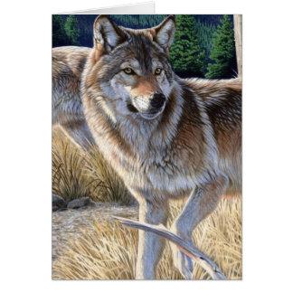 Wolf im Winterwald Karte