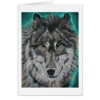 Wolf in aquamarinem Eis notecard Karte
