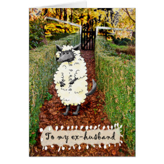 Wolf in der Kleidung des Schafs, zum ex Ehemann, Karte