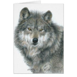 "Wolf leeres Notecard ""Spuk Augen "" Karte"