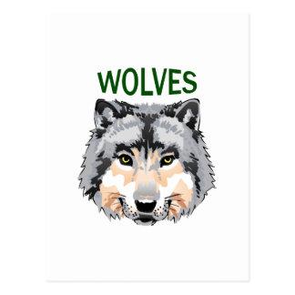 WOLF-MASKOTTCHEN POSTKARTE
