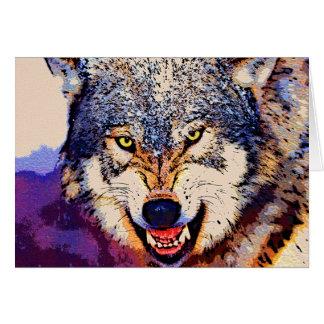 WOLF-NAHAUFNAHME KARTE