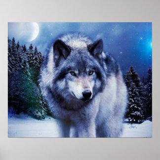 Wolf-Plakat Poster