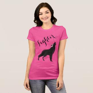 Wolf-rosa Rosen-Kämpfer-Shirt T-Shirt