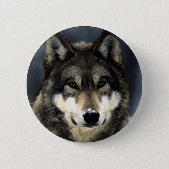 Wolf Runder Button 5,7 Cm