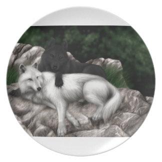 Wolf-Spiel Teller