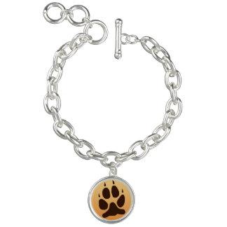 Wolf-Tatzen-Druck-Charme Charm Armband