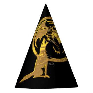 Wolf- u. Drache-Goldschwarzzauberer-Partyhüte Partyhütchen