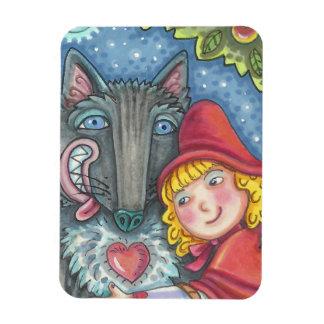 Wolf und Rotkäppchen MAGNET *Customize