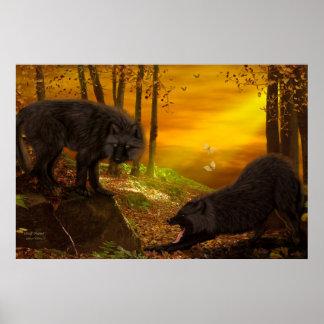 """Wolf-Wald"" Kunst/-plakat"