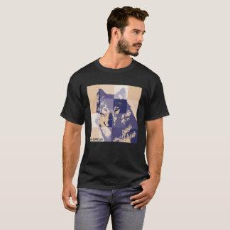 wolf weiß wild life sozial T-Shirt