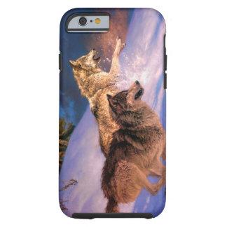 Wolfbraun - Schneewolf - zwei Wölfe Tough iPhone 6 Hülle