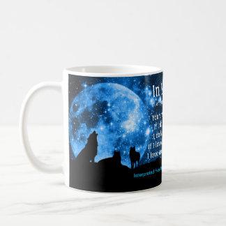 Wölfe heulen am Vollmond, mit Mayaunterricht Kaffeetasse