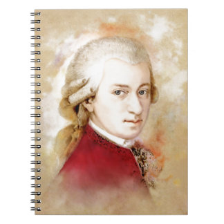 Wolfgang Amadeus Mozart im Aquarell Stil Notizblock