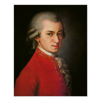 Wolfgang Amadeus Mozart-Porträt Poster