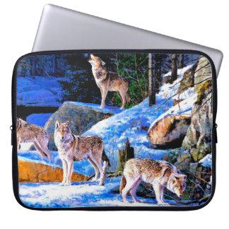 Wolfmalerei - Wolffamilie - wolfpack Laptopschutzhülle