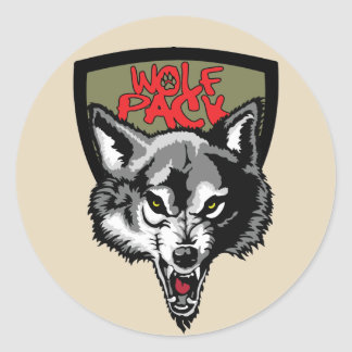 Wolfsrudel Runder Aufkleber