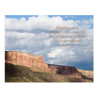 Wolke beschattet Gedicht-und Foto-Schablonen-Karte Postkarte