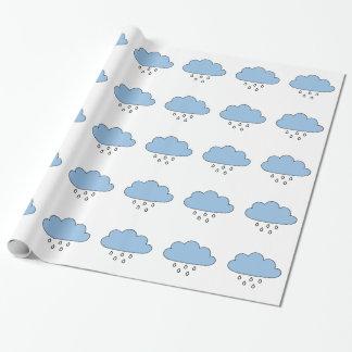 """Wolke """"so nach rechts wie Regen """" Geschenkpapierrolle"""