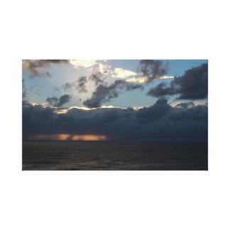 Wolke u. Meer Leinwanddruck