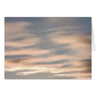 Wolken am Sonnenuntergang mit Jet: Karte